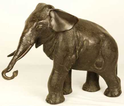 Cast Bronze Elephant