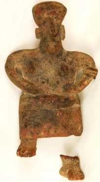 Pre-Columbian Attributed Terracotta Statue