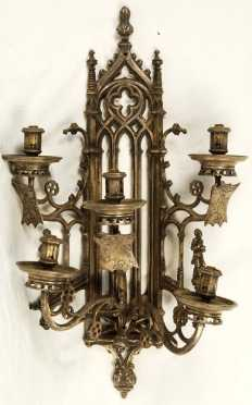 Gothic Revival Cast iron Sconce