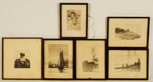 Lot of Six  Lithographs and Etchings