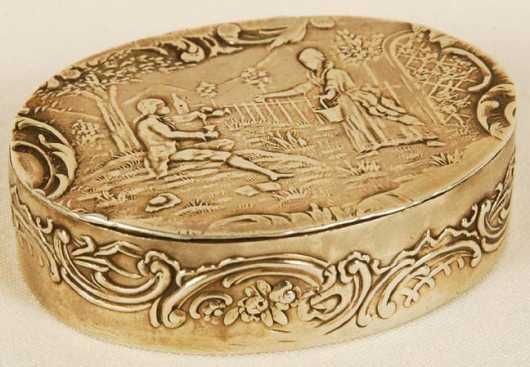 English Silver Snuff Box