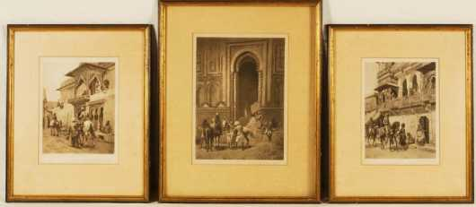 Three Framed Prints of  Scenes From India
