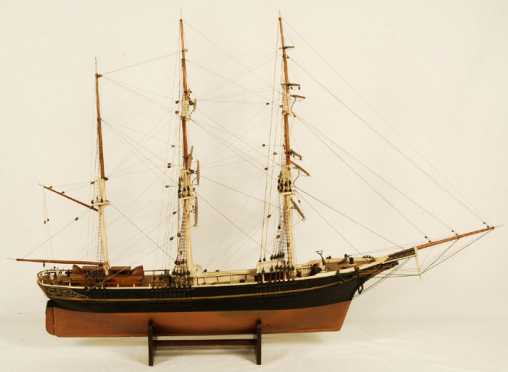 Merchant Bark Ship Model