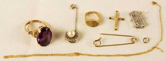 Miscellaneous White and Yellow Gold Objects