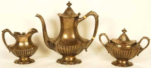 Three Piece Sterling Tea Set