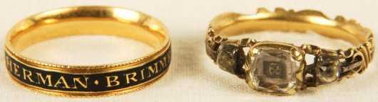 Two 18th century Memorial Rings