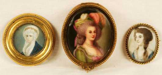 Three miniature Portraits