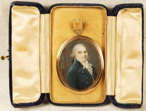 Miniature On Ivory Pendent
