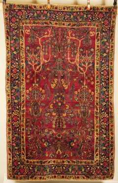 Kerman Oriental Scatter Rug