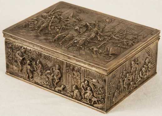 Early 19th Century Dutch Coin Silver Valuables Box