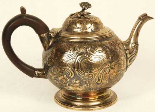 Thomas Chawner Coin Silver tea pot