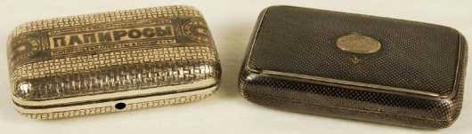 Two Silver Tobacco Boxes