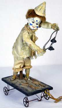 Antique Clown Pull Toy