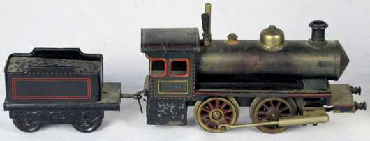 German Toy Steam Engine and Tender