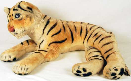Steiff Reclining Toy Tiger