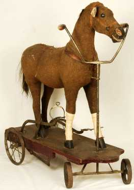 19th Century Peddle Riding Horse