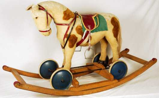 Steiff Wheeled Toy Horse