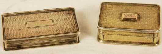 Two English Vinaigrette Boxes