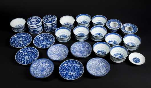 Lot of Chinese Blue and White Porcelain