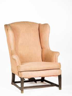 English Hepplewhite Period Wing Chair