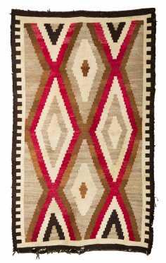 Navajo Zigzag Design Scatter Rug