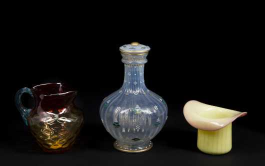 Lot of Three Art Glass Pieces