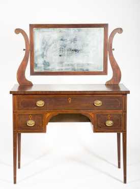 Mahogany Dressing Table With Swivel Mirror