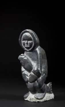 Inuit Carved Stone Figure
