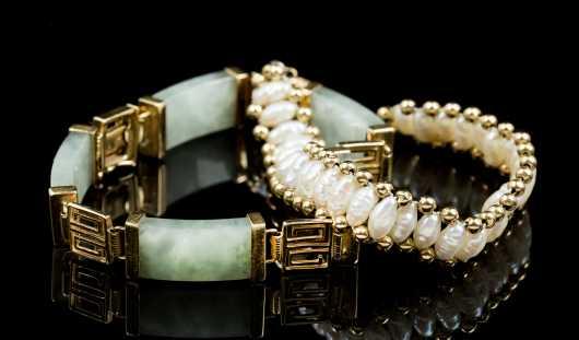 Lot of Two Bracelets in 14kt