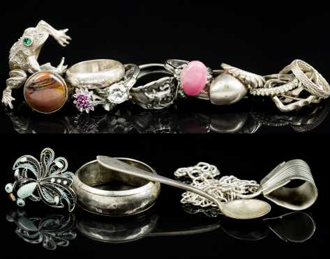 Lot of Sterling and Silver Jewelry