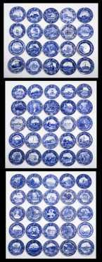 Lot of 70 Wedgwood American Scenes Plates