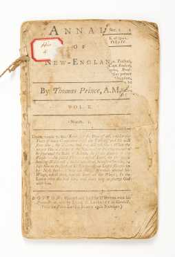 Prince, Thomas (1687-1758) 'Annals of New England'