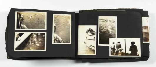 """Photograph Album of the 1925 """"Arcturus"""" Expedition to the South Seas and the Galapagos Islands with Famed Explorer William Beebe"""