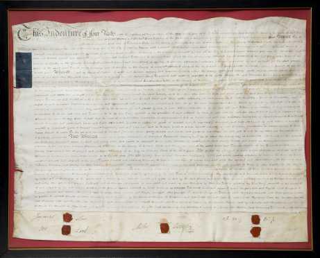 English Land Indenture, 1804