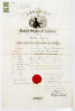 1891 Passport Visa--US Citizen in Palestine
