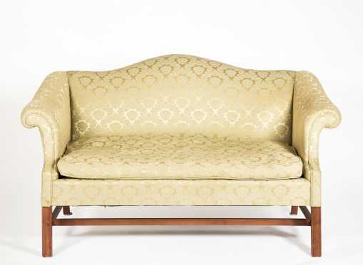 Camel Back Chippendale Style Sofa