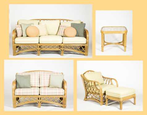 Five Piece Modern Rattan Porch Furniture
