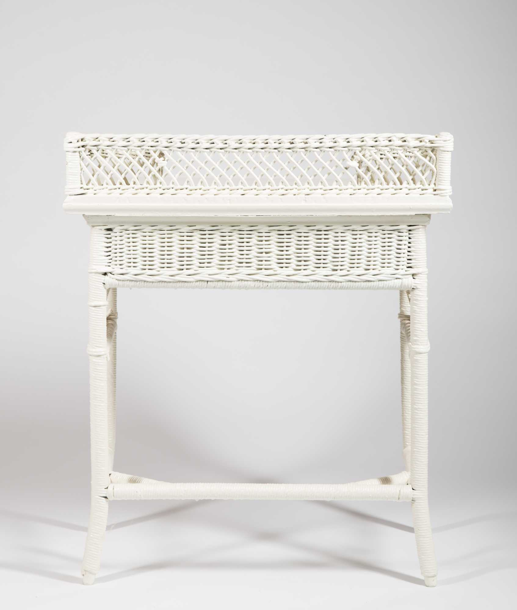 Two Old Pieces Of Fancy Wicker