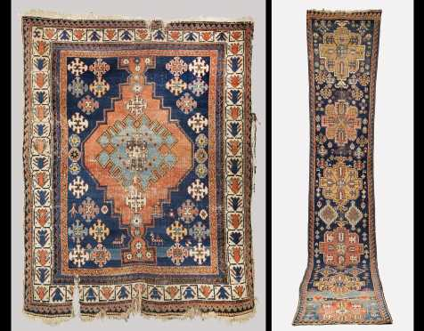 Two Early Caucasian Rugs