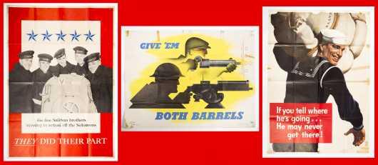 Lot of Three WWII Propaganda Posters