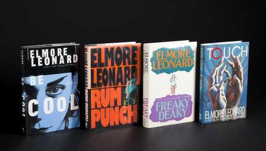 Elmore Leonard. 4 Signed First Editions