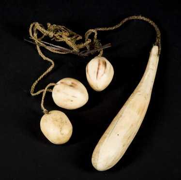 Inuit Carved Bone Bola
