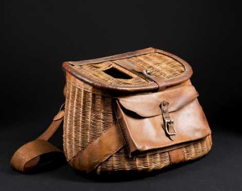 Wicker and Leather Fishing Creel
