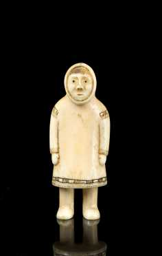 Inuit Carved Walrus Ivory Shaman's Carving