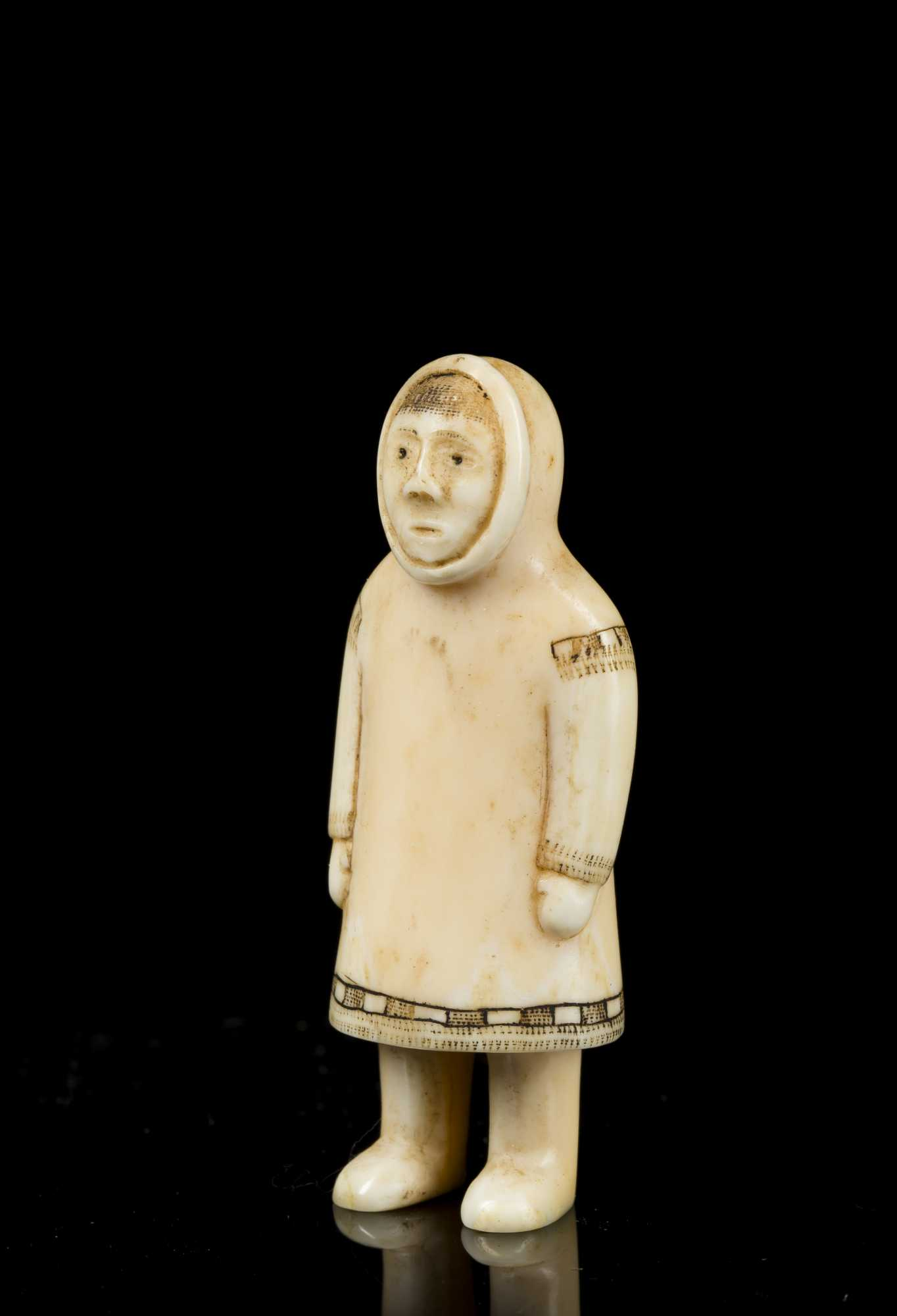 Inuit Carved Walrus Ivory Shaman S Carving