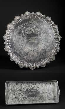 Two Silver Plated Golf Trophies
