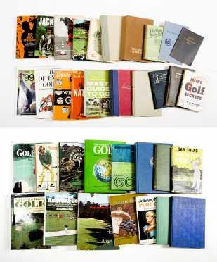 Lot of 34 Golf Books