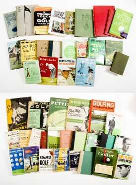 Lot of 45 Golf Books