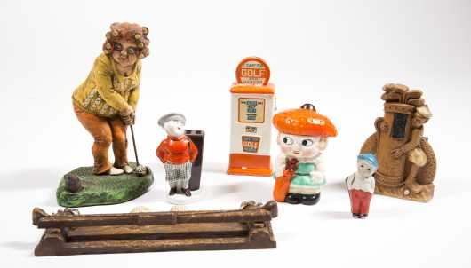 Lot of Seven Ceramic Golf Figurines