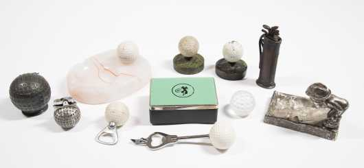 Eleven Assorted Decorative Golf Items